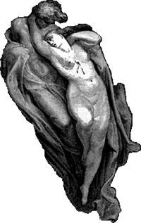 Paolo und Francesca in der Hölle